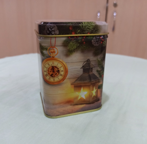 Банка новогодняя 100 г для чая и кофе