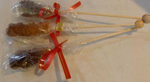Сахар тростниковый коричневый на палочке