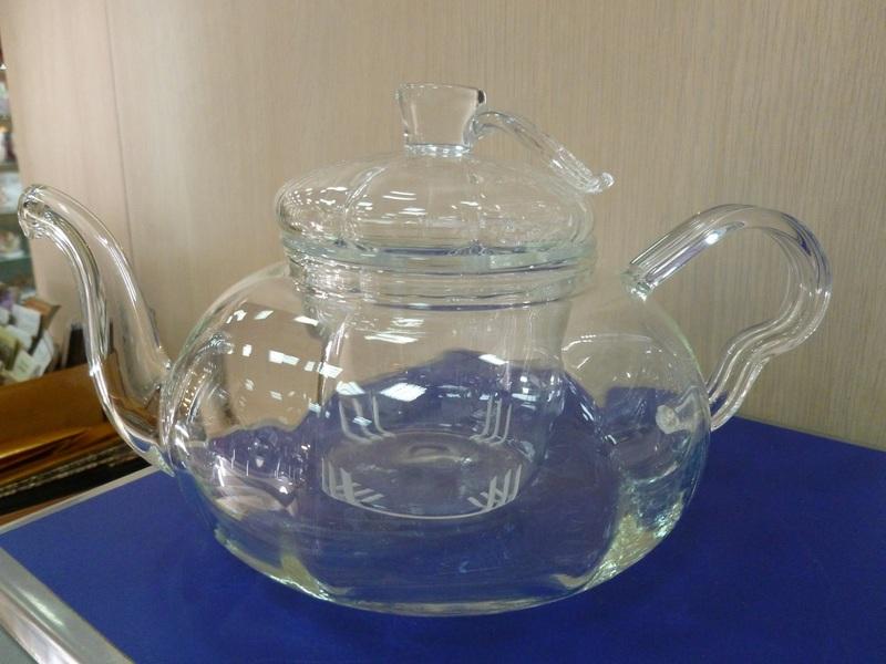 """Чайник стеклянный """"Листок"""", 600 мл"""