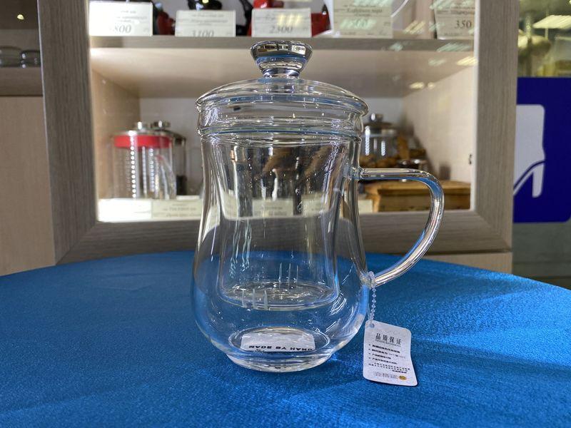 Чашка Симона стеклянная с заварочной колбой